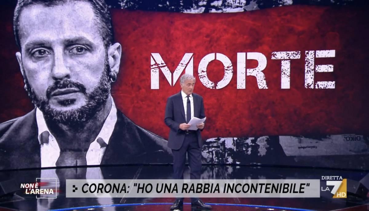 """La straziante lettera di Corona a Massimo Giletti: """"Come un cannibale mordo tutto"""""""