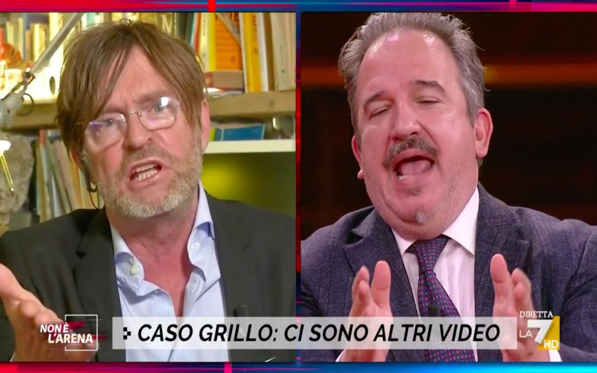 """""""Hai rotto le p..."""", """"Maleducato misogino"""". Rissa in studio sul caso Grillo"""