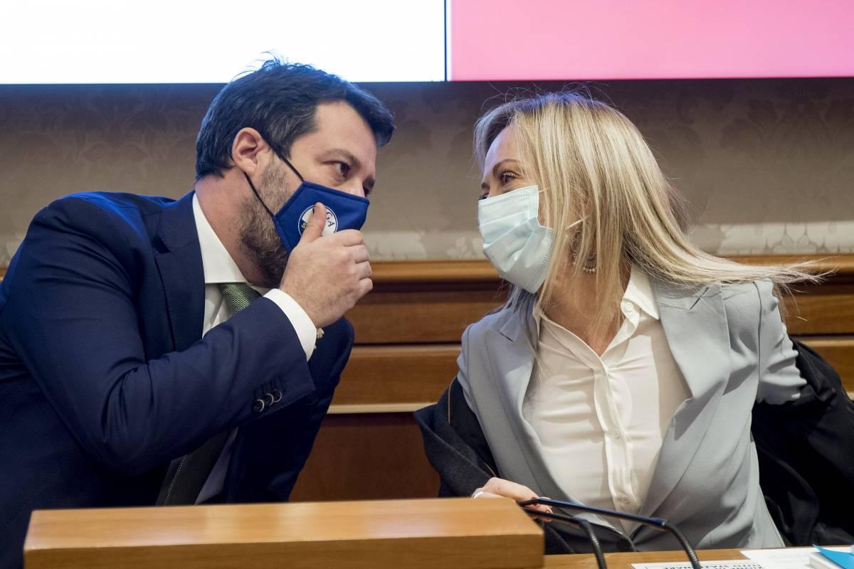 Meloni e Salvini di nuovo uniti contro lo stato d'emergenza