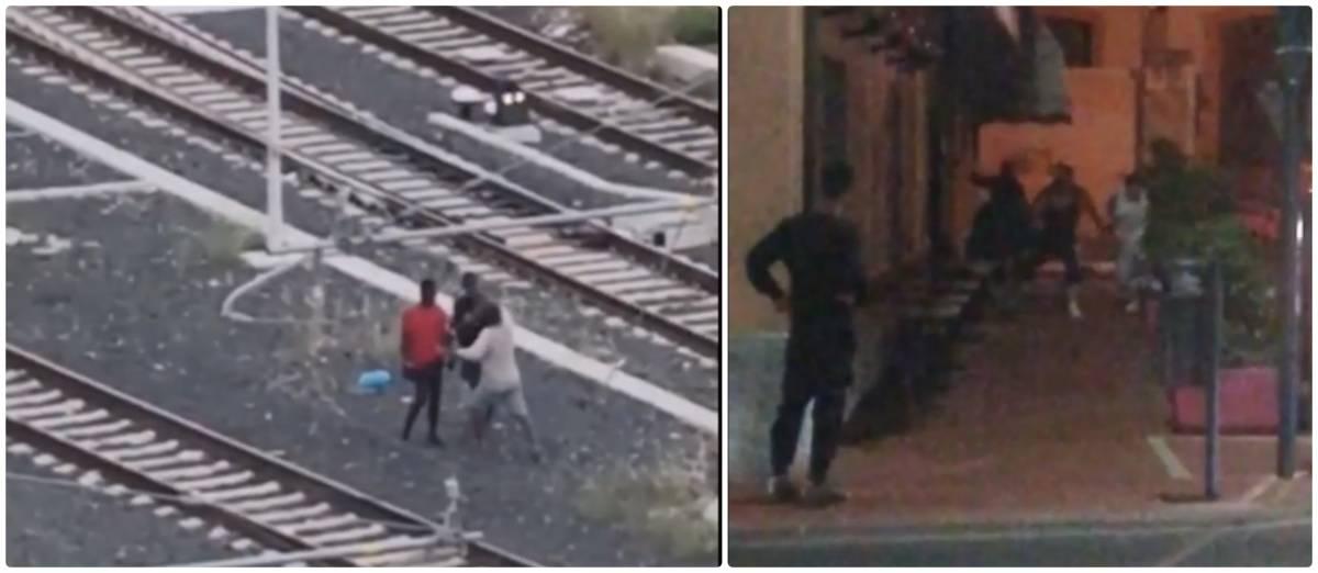 """A Ventimiglia il """"ring"""" degli immigrati: pugni, botte e insulti"""