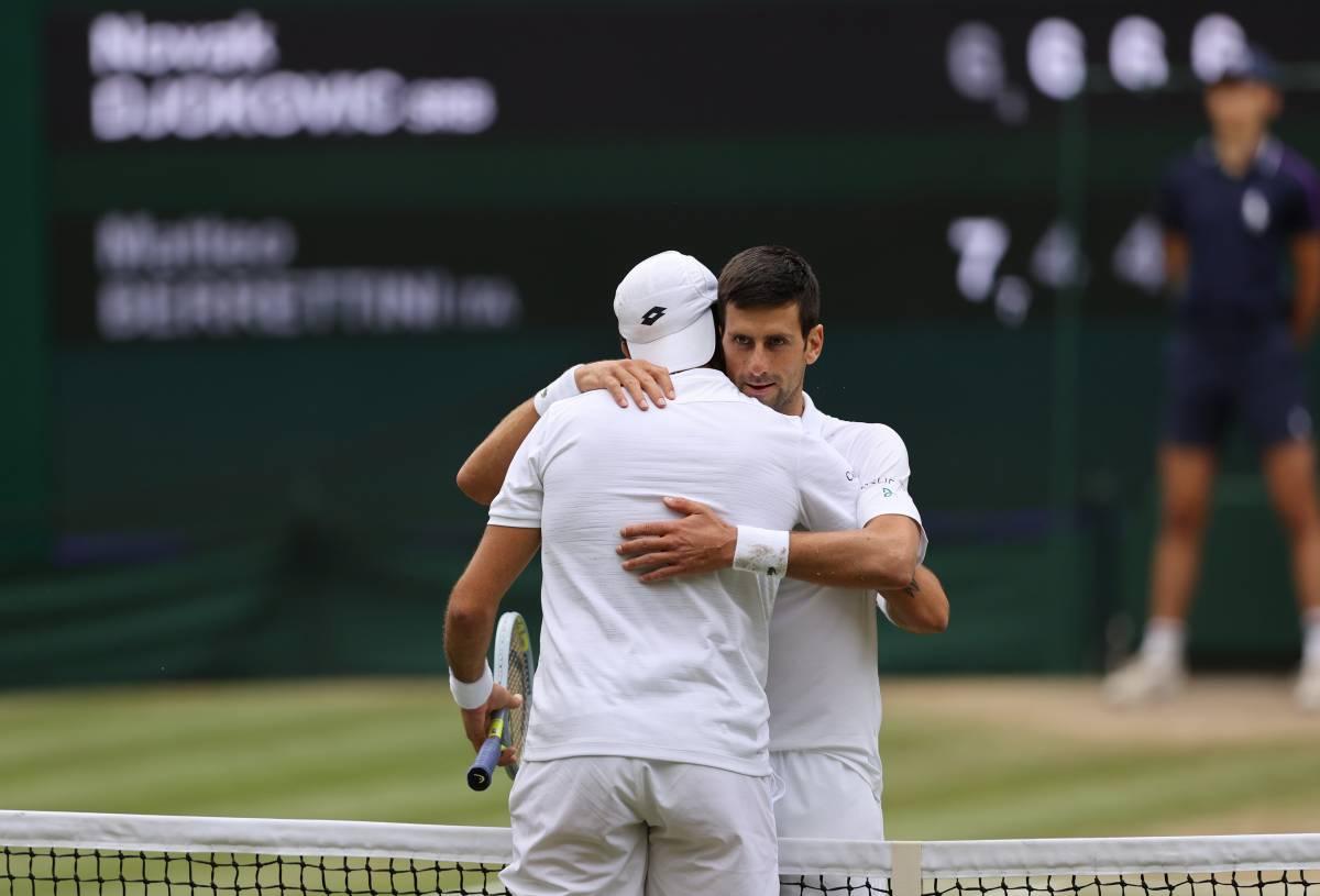 Wimbledon, Berrettini si arrende a Djokovic