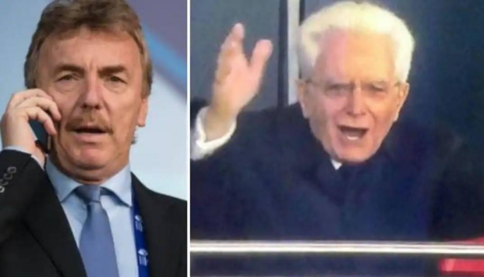 """La frase di Boniek a Mattarella: """"Presidente, poi 1-1..."""""""