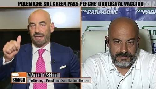 """""""Studi"""", """"Pronto per l'Isola dei famosi"""": è rissa tra Bassetti e Paragone"""