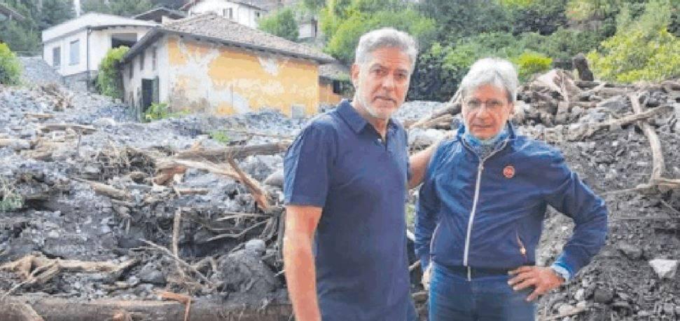 Clooney azzecca il tempo anche con il maltempo