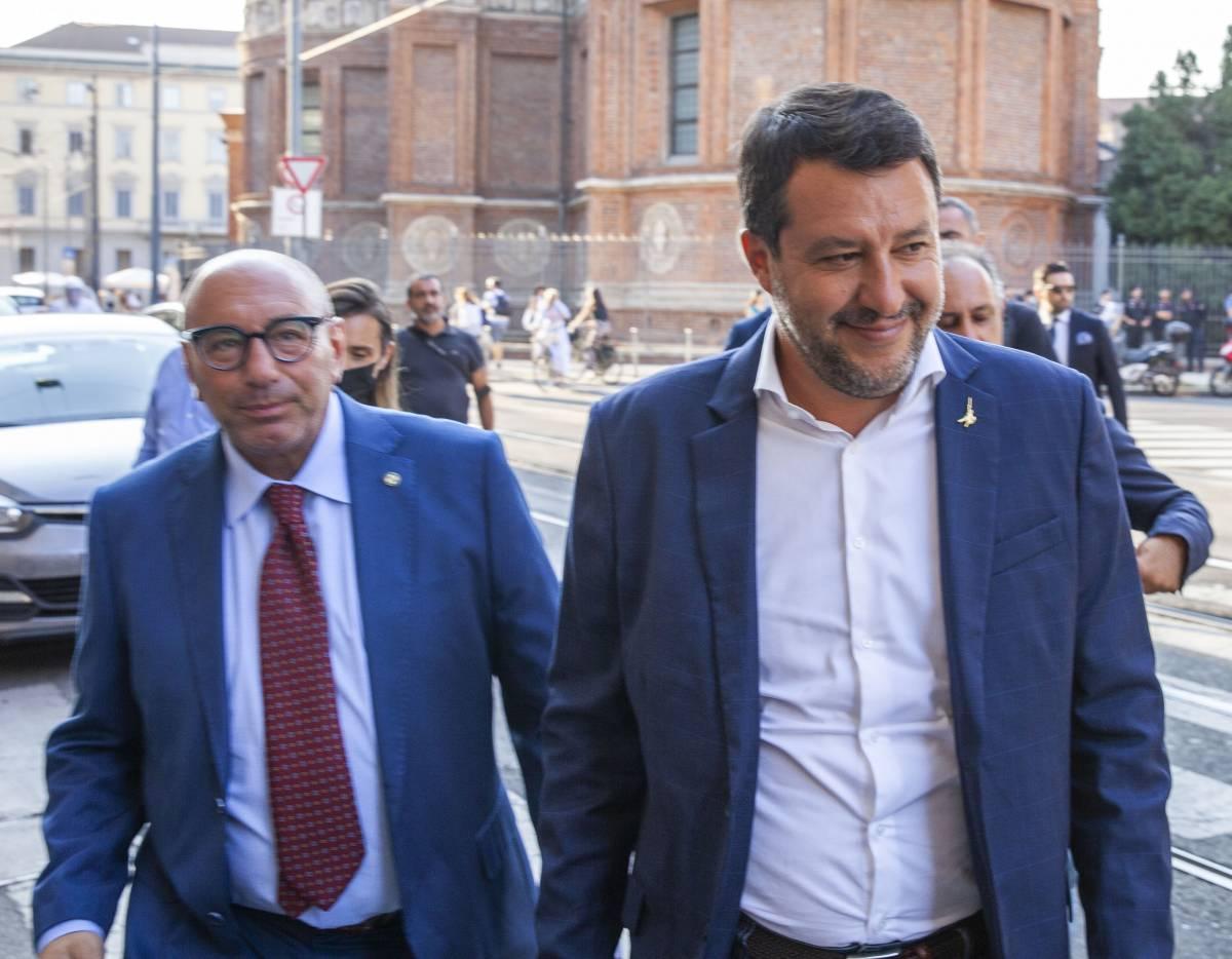 """Salvini carica Bernardo: """"Al ballottaggio può essere già avanti"""""""