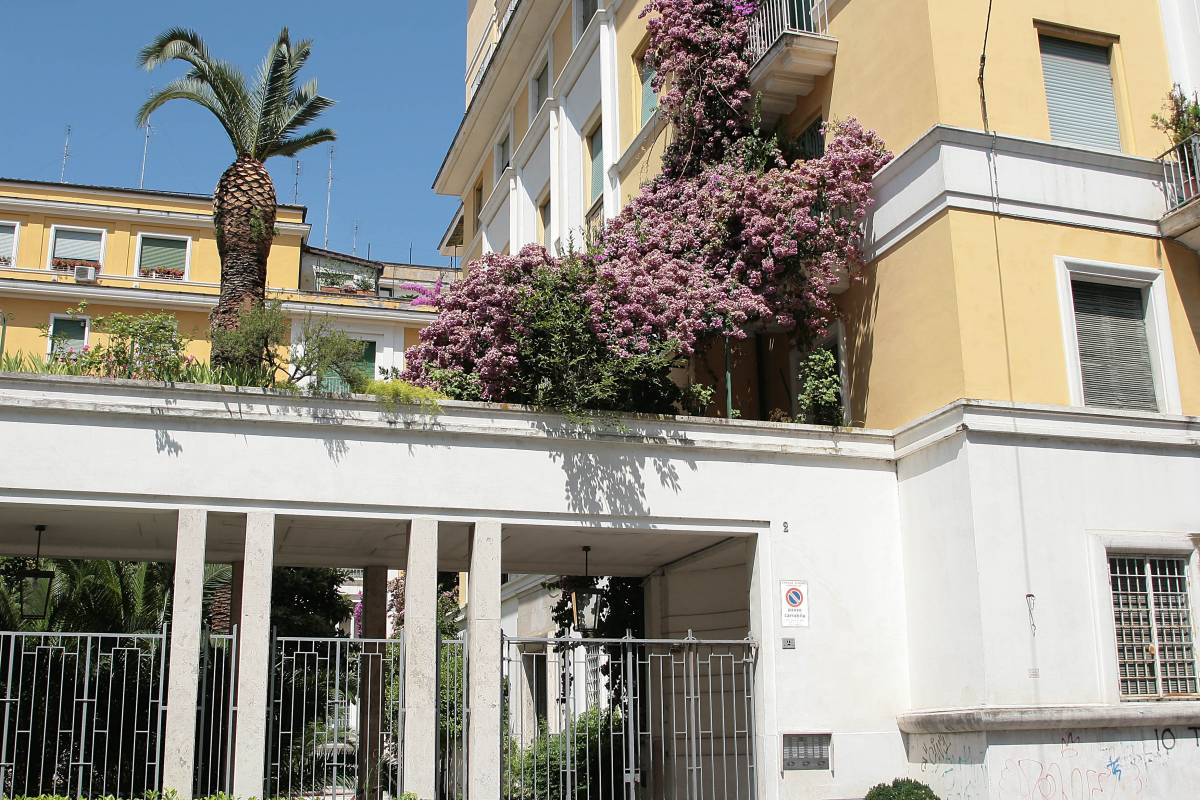 Il palazzo di via Poma dove sono state uccise Simonetta Cesaroni e Renata Moscatelli
