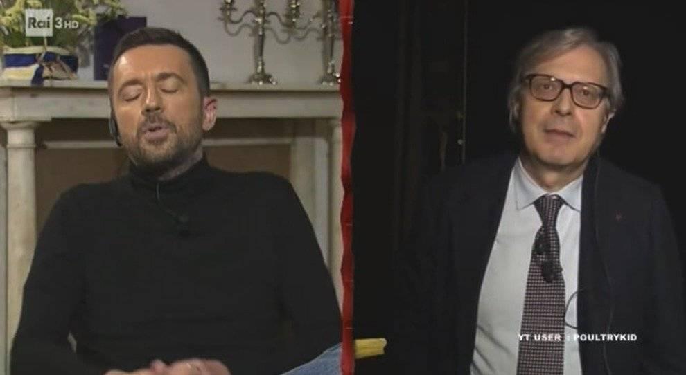 """Umiliazione"", ""Cagnolino..."": Sgarbi ""massacra"" Scanzi"
