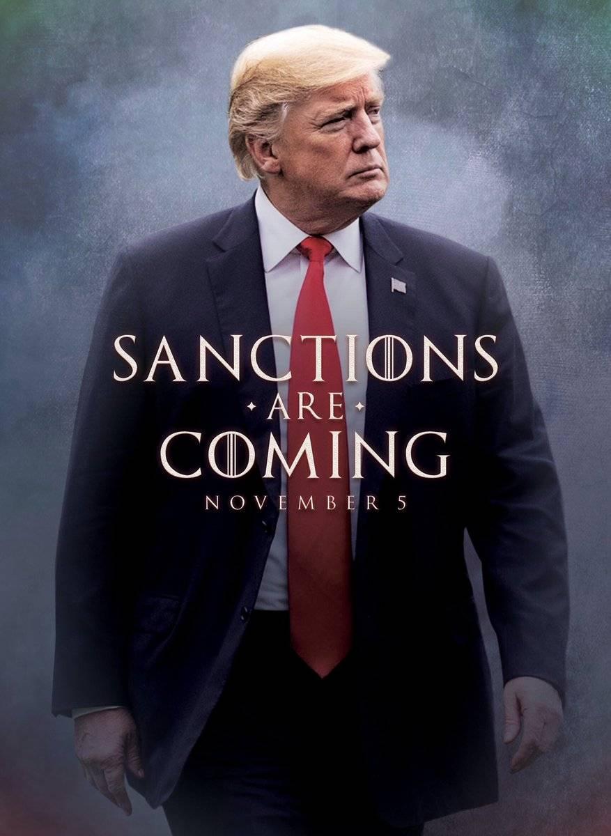 """Iran, Trump cita Il Trono di Spade: """"Sanctions are coming"""""""