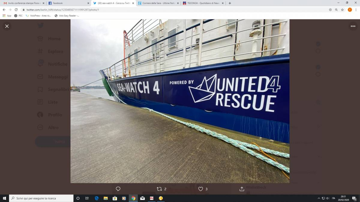 La Ong battezza la nuova Sea Watch4