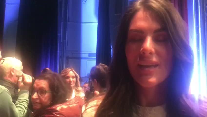 Sanremo, anche la fidanzata di Valentino Rossi sul palco