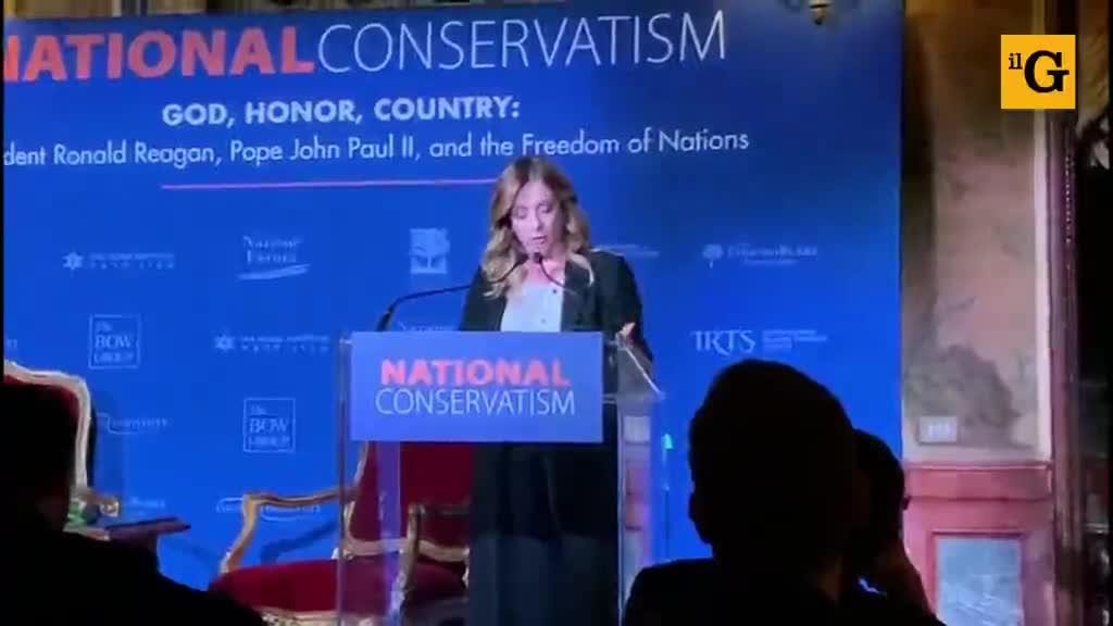 Il discorso di Giorgia Meloni al National Conservatism conference