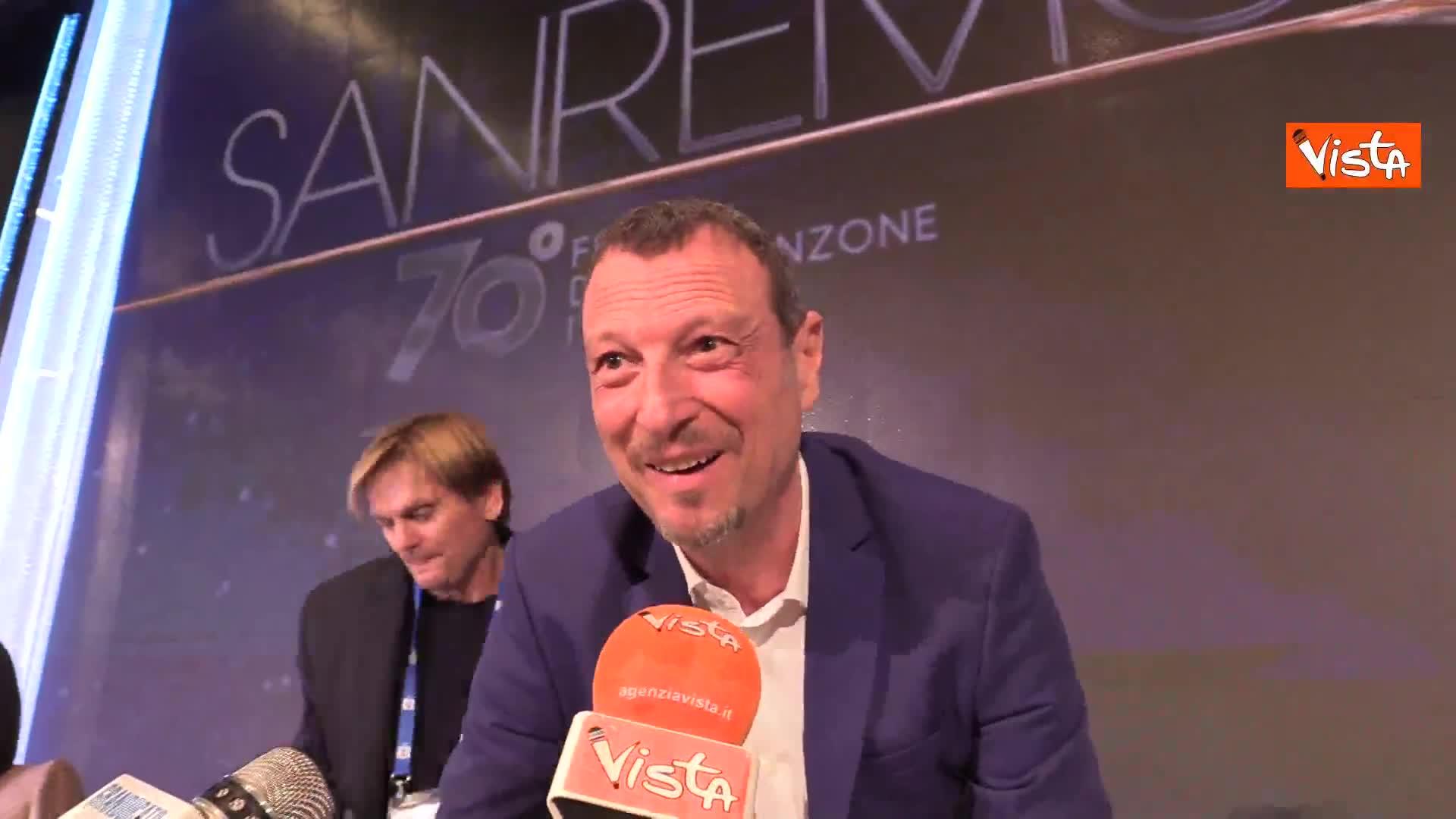 """Sanremo 2020, Amadeus: """"Sempre felice di fare un passo indietro"""""""