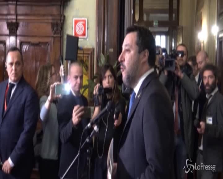 """Gregoretti, Salvini: """"Attendo sereno il giudizio"""""""