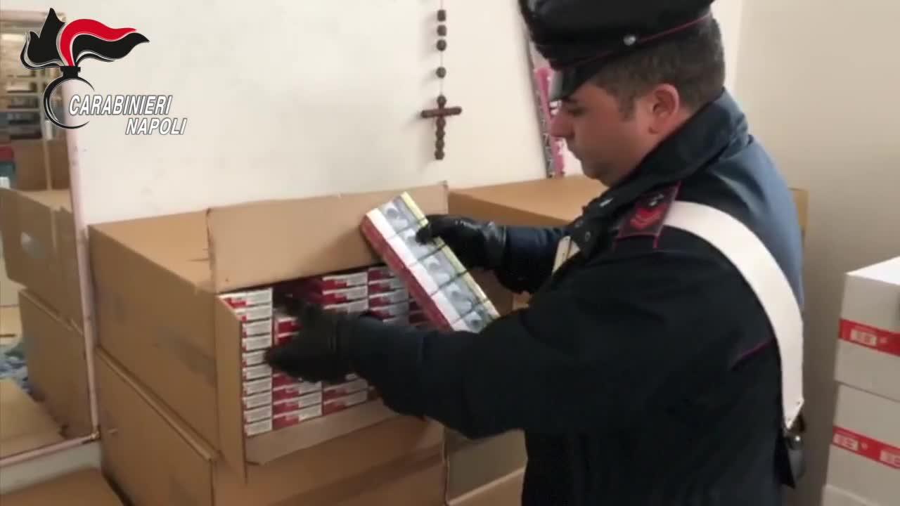 I carabinieri hanno sequestrato oltre 700 chili di sigarette di contrabbando ad Ercolano