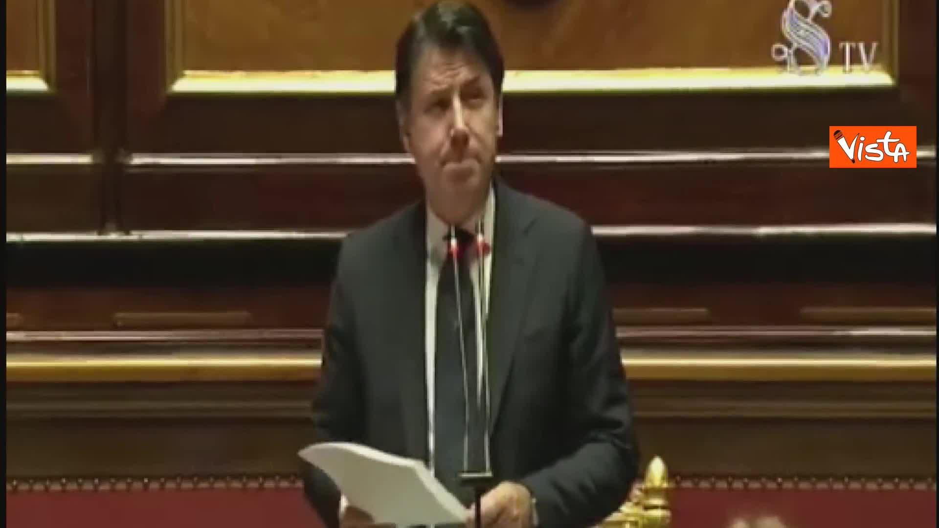"""Opposizioni contestano Conte in Senato e lui: """"Disponibilità a dialogo"""""""