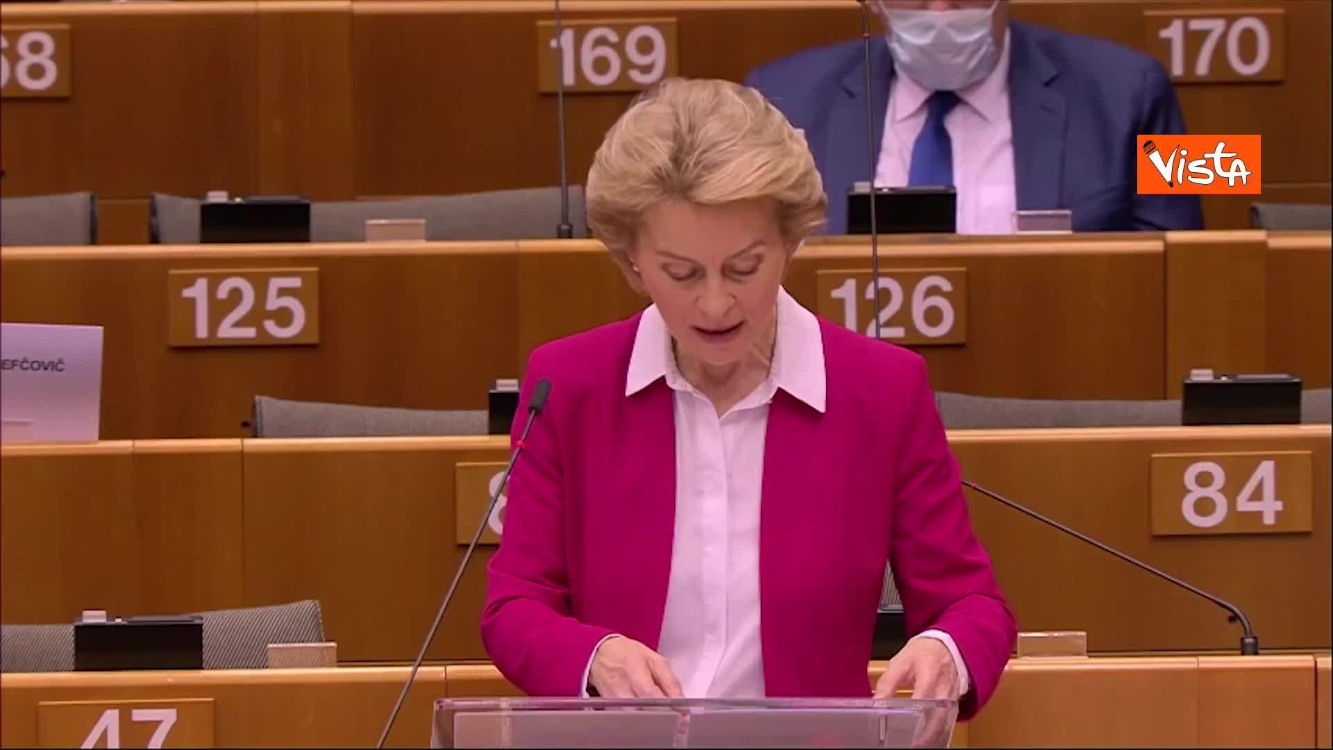 """Von der Leyen: """"Next generation Eu è investimento nel bene comune europeo"""""""