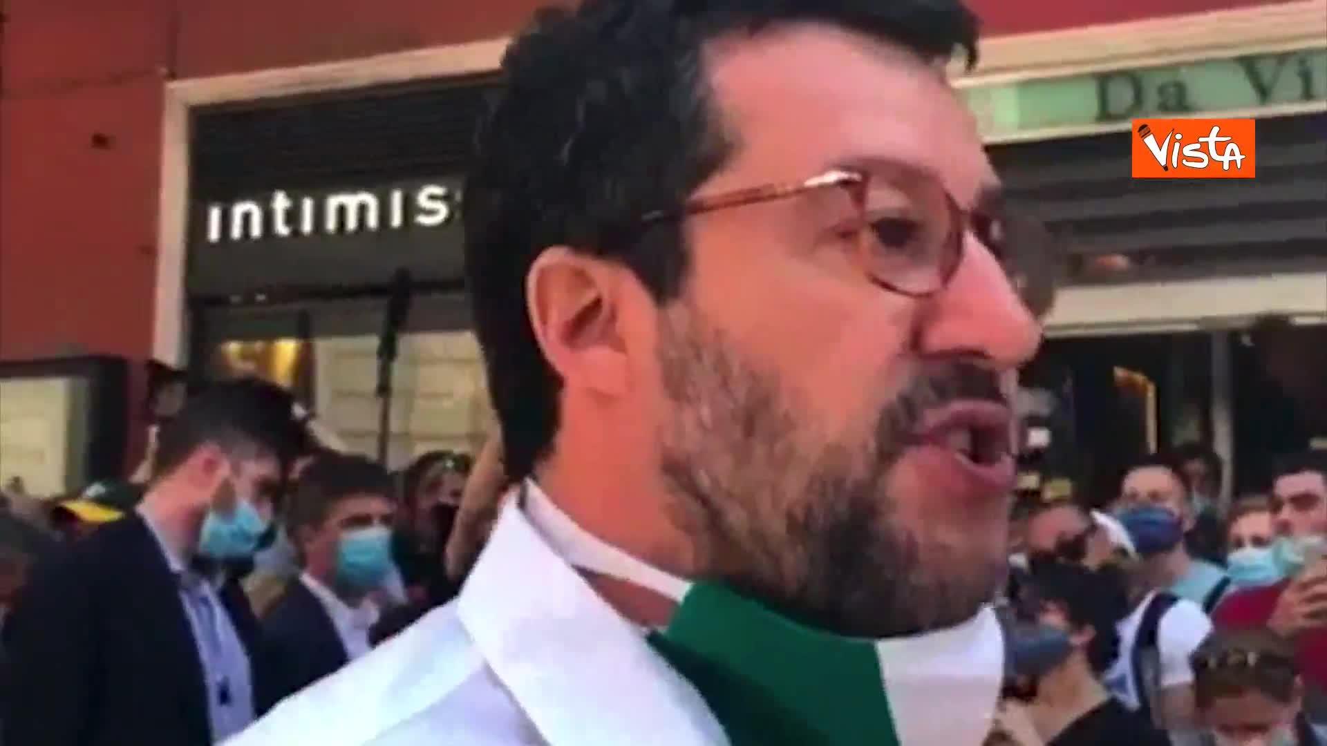 """Salvini: """"Qui per portare soluzioni, non per protestare"""""""