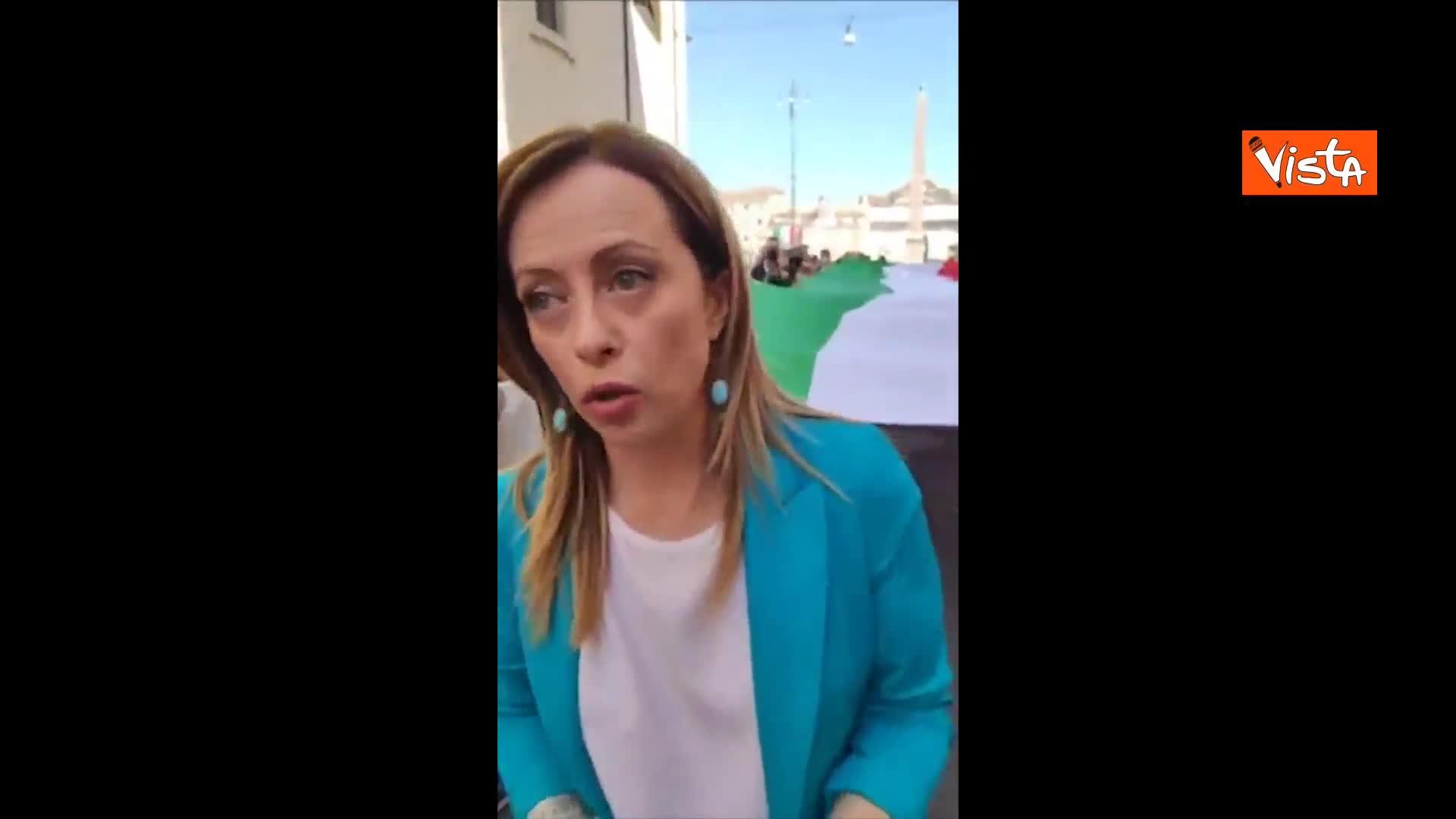 """Meloni: """"Governo sordo, abbiamo il diritto di manifestare"""""""