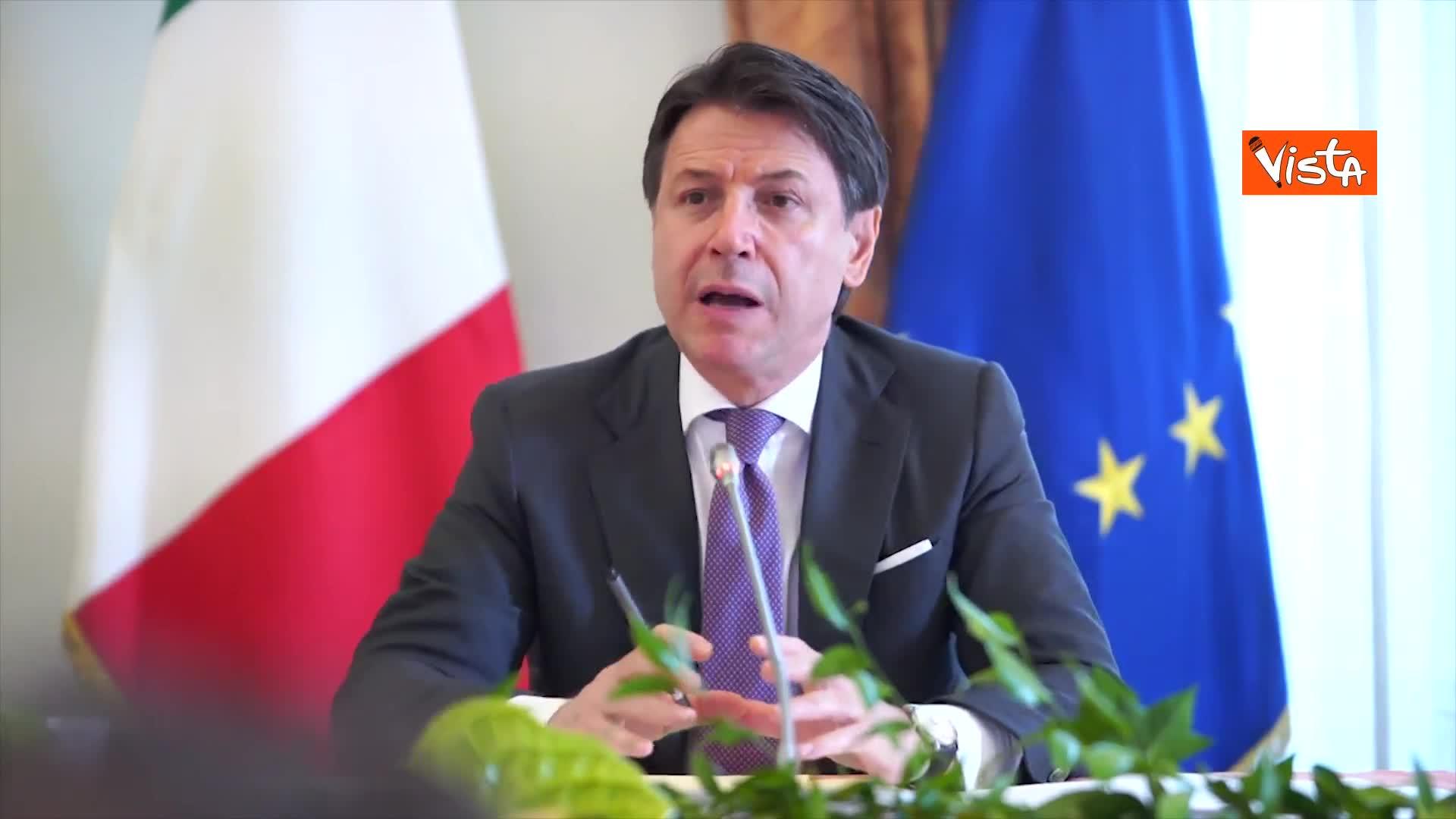 """Conte: """"Piano in tre punti, modernizzazione, transizione green e inclusione"""""""