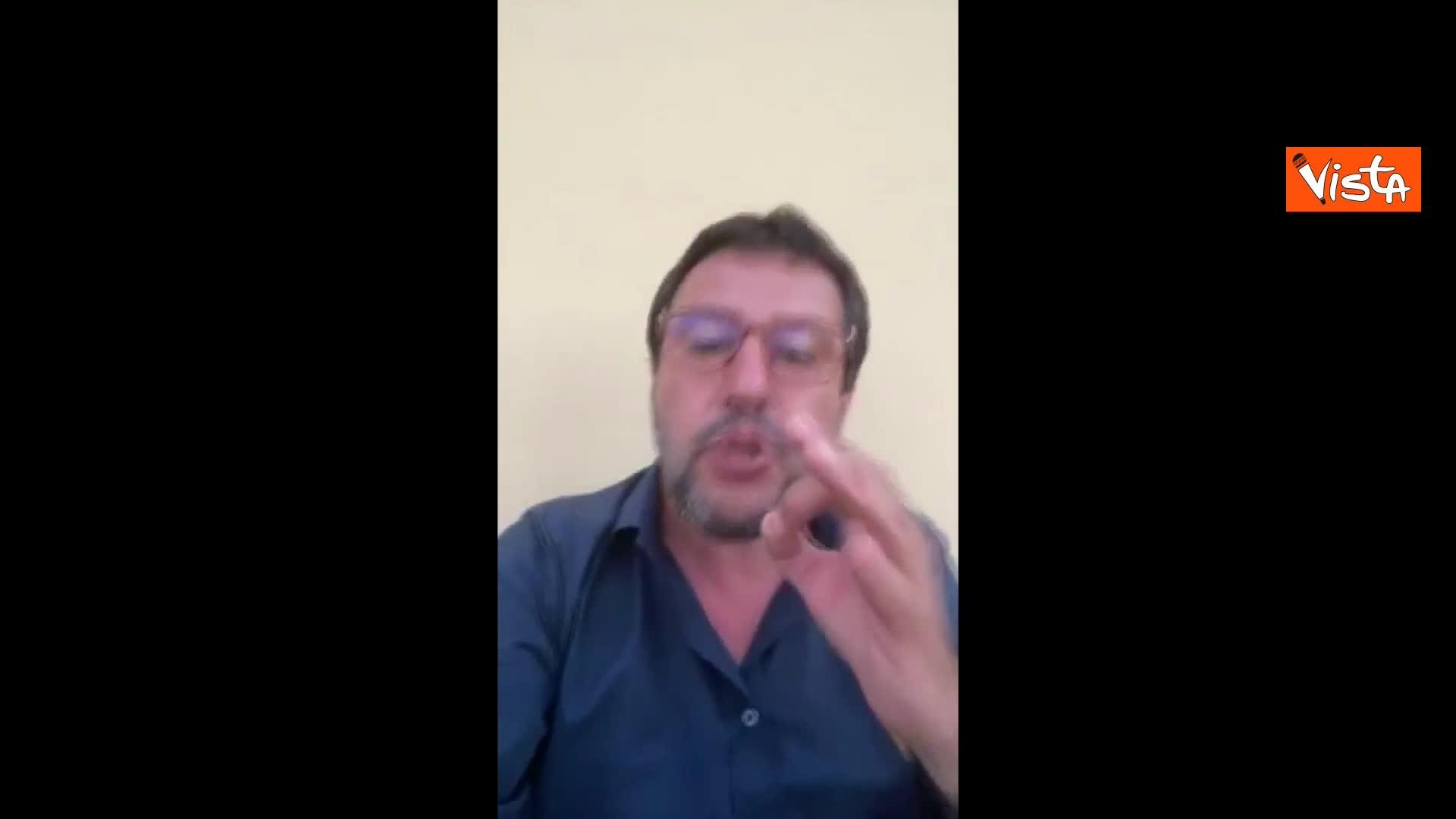 """Salvini e i contestatori di Mondragone: """"Puzzo? Ci credo dopo due ore in mezzo a quella gentaglia"""""""