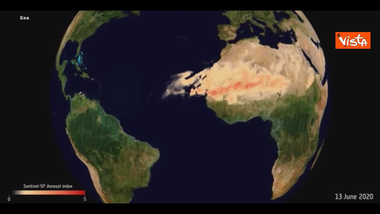 Godzilla, la gigantesca nube di sabbia dal Sahara