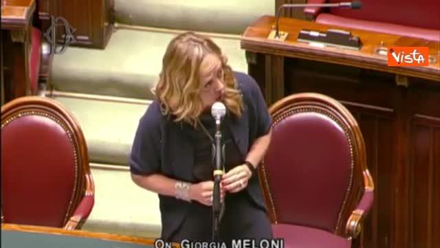 """Stato di emergenza, Meloni: """"Proroga perché sapete che paura genera consenso per governo"""""""