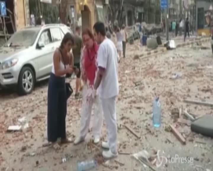 Libano, il video delle esplosioni