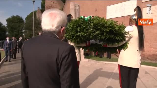 77° anniversario della Difesa di Roma, Mattarella a Porta San Paolo e al Parco della Resistenza