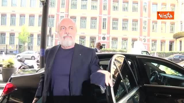 Serie A, De Laurentiis positivo al Covid. L'arrivo del presidente del Napoli all'assemblea di Lega