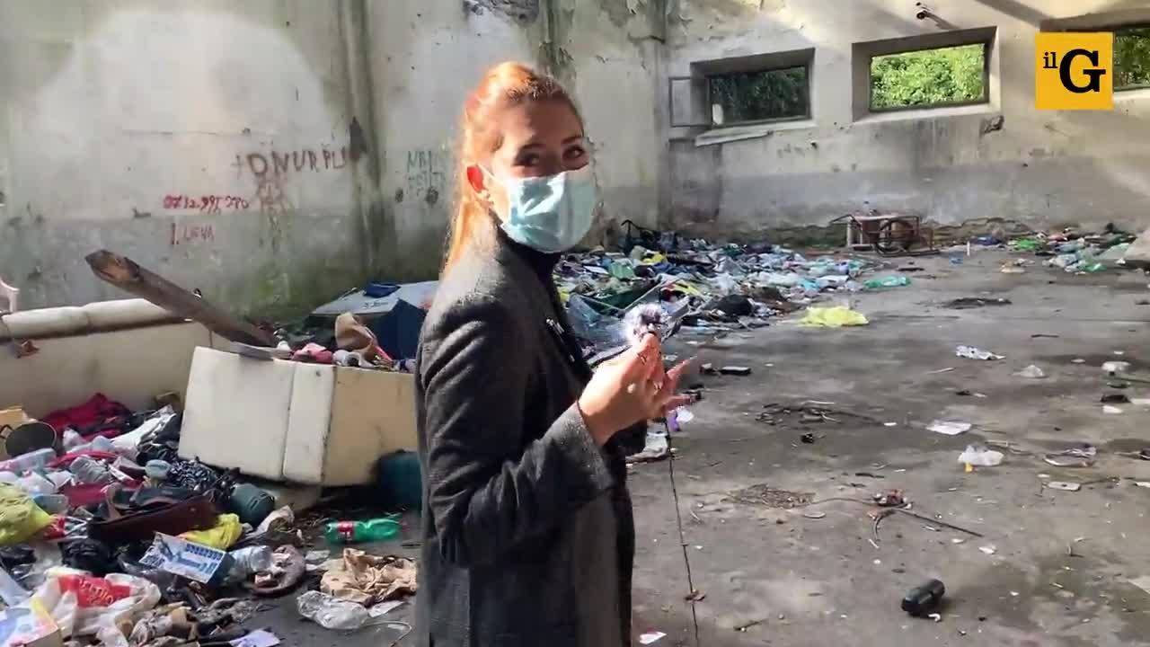 Il capo rom abusivo nella ex caserma militare