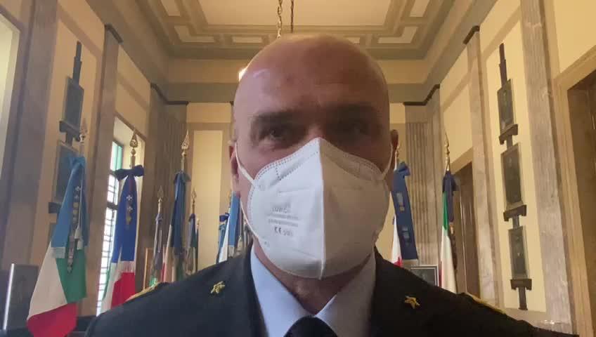 Il generale Paolo Tarantino, capo Accademia militare di Pozzuoli
