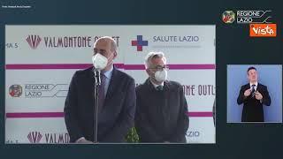 """Zingaretti: """"A Valmontone il centro vaccini drive-in più grande d'Italia"""""""