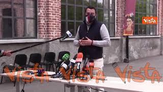 """Salvini: """"Letta non fa bel servizio al Paese con felpa Open Arms"""""""