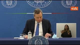 """Draghi: """"Ringrazio ministro Speranza per lavoro svolto"""""""