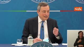 """Draghi: """"Alitalia deve sostenersi da sola e volare con le sue ali"""""""