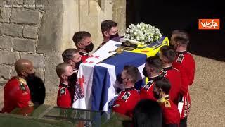 Funerali Principe Filippo, l'arrivo delle Regina e il corteo funebre