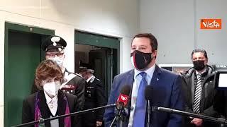 """Salvini: """"Solidarietà Letta l'ha dimostrata mettendo felpa degli stranieri"""""""