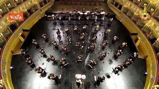 La banda dei Vigili del Fuoco omaggia direttore d'orchestra von Suppé nel giorno della sua nascita