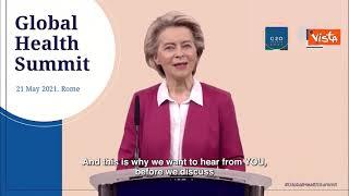 """Global Health Summit, il messaggio della von der Leyen inizia con un saluto a Draghi: """"Caro Mario"""""""