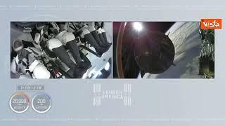 SpaceX, la capsula Crew Dragon 2 si separa dal razzo Falcon 9