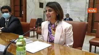 Giorgetti incontra la ministra degli Affari esteri del Governo d'Unità nazionale libico. Le immagini