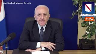 """De Luca: """"Ora tutti d'accordo su isole Covid free, ci fa piacere"""""""