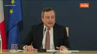 """Coprifuoco, Draghi: """"Io voglio che le persone tornino a lavorare e divertirsi. Ma in sicurezza"""""""