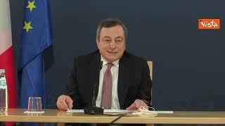 """Vaccini, Draghi: """"Mossa di Biden per rispondere a Russia-Cina? Ipotesi buffa"""""""