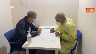 Il Presidente della Regione Sicilia Musumeci riceve la prima dose di AstraZeneca