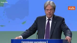 """Gentiloni: """"Sfida principale per l'Italia è attuare riforme e investimenti"""""""