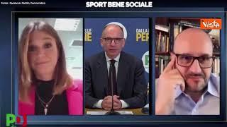 """Letta: """"Inserire il termine sport nella Costituzione"""""""