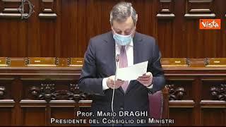 """Draghi: """"Nessuno verrà lasciato solo in acque territoriali italiane"""""""