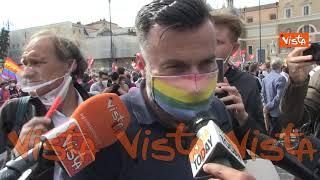 """Zan a Piazza del Popolo, """"Mia legge non può diventare oggetto di scontro politico"""""""