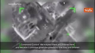 I piloti israeliani annullano una missione per la presenza di bambini nell'obiettivo da colpire